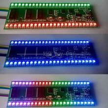 Assembled 5V RGB MCU Adjustable Display Pattern 24 LED VU Level Indicator Meter Dual Channel(China)