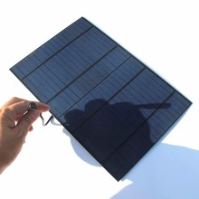 NEW 10W 18V Solar Panel  Solar Cell Module Polycrystalline PET DIY System For 12V Battery Charger With DC 5521 Bus Free Shipping
