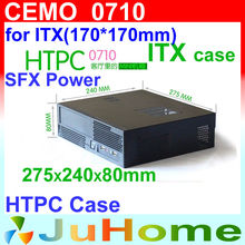 [Cheapest] HTPC case, Mini-ITX, 275*240*80mm, 1U power supply, 0.8mm Steel, case of family multimedia computer, CEMO 0710