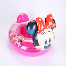 Animal seat boat infant swimming ring duck handle seat inflatable float ring Minnie baby armpit