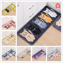 Cartoon Animal Welcome Floor Mats Cat Printed Bathroom Kitchen Carpets Doormats Anti-Slip Tapete Dog Floor Mat for Living Room