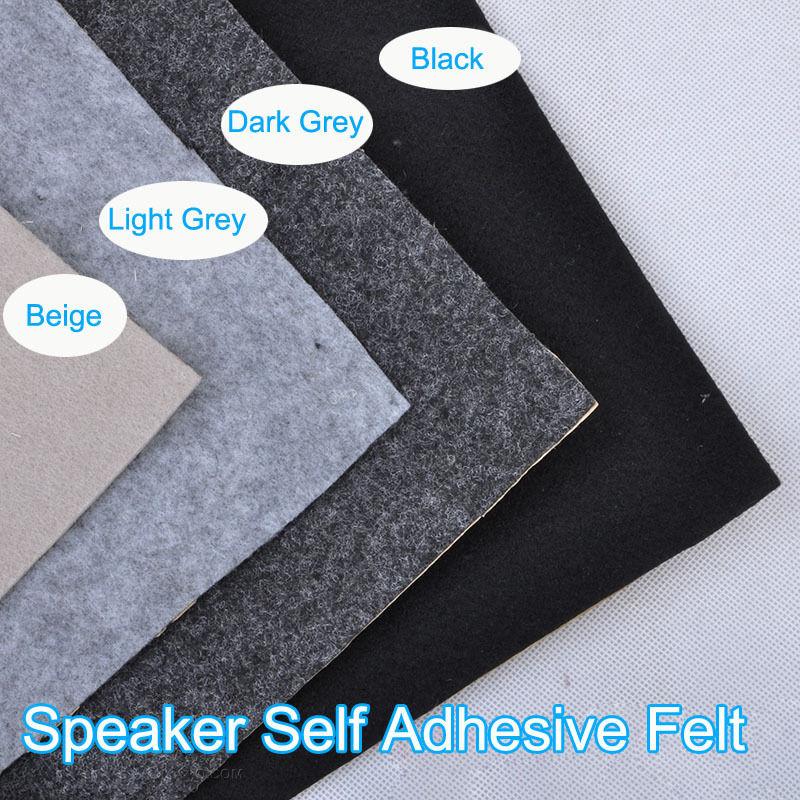 1pcs 1M Speaker patch Gray Self-adhesive Subwoofer Felt flannel speaker cloth