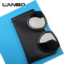 LANBO 3Pcs High Quality Fashion Brand Brown PU Sunglasses Pouch Soft Eyeglasses Bag Glasses Case Eyewear Accessories S17(China)