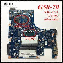 MOUGOL NM-A271 mainboard For Lenovo G50-70 Z50-70 Laptop motherboard i7 CPU Discrete graphics 100% working Free Shipping(China)
