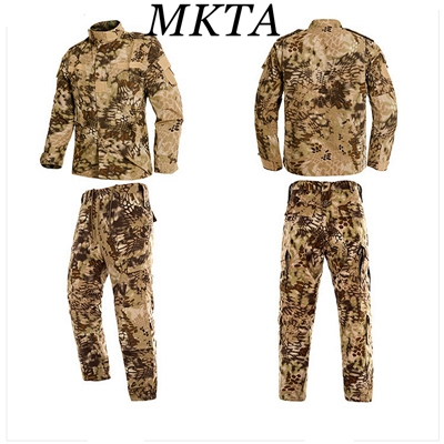 Tactical Uniform US Army Camouflage Combat Uniform Men Military Clothing Set Airsoft Outdoor Jacket + Pants Multicam ACU CP<br>