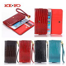 Handbag Wallet Case For Elephone p9000 5.5 Inch Universal Crocodile PU Leather Strip Wrist for Cubot Cheetahphone Phone Cases