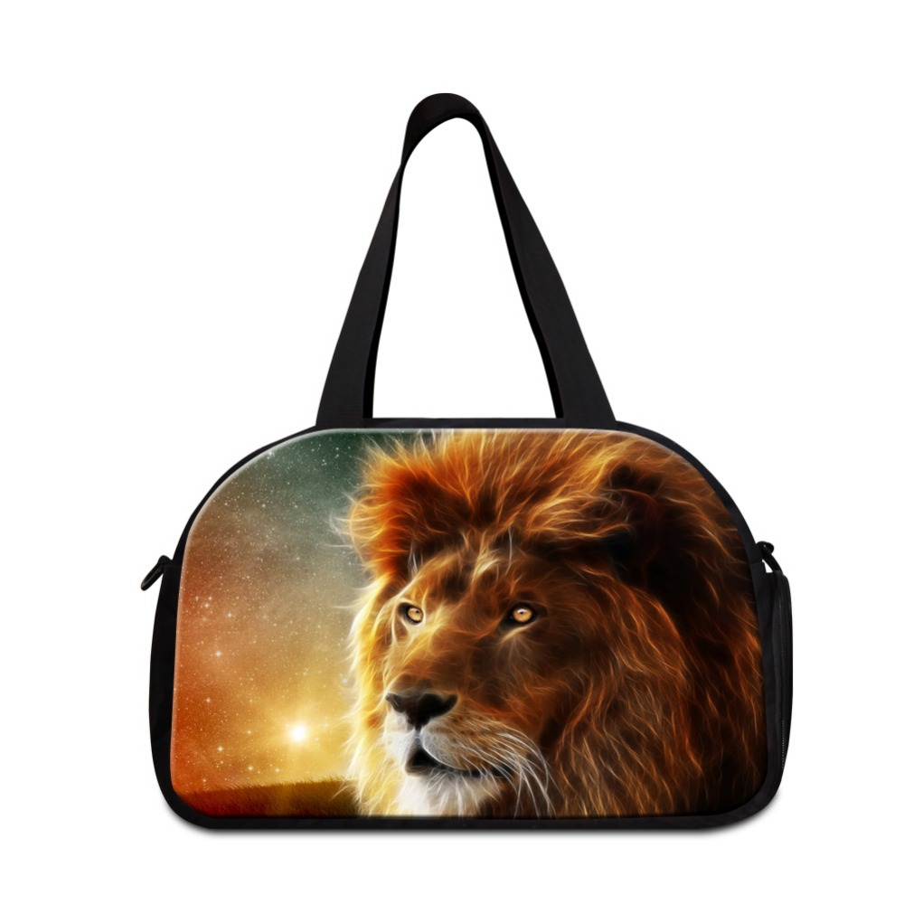 Cool Animal Lion men sporty bag small duffle bag shoulder duffle tote bags for teen boys simple weekender bag for teenagers<br><br>Aliexpress