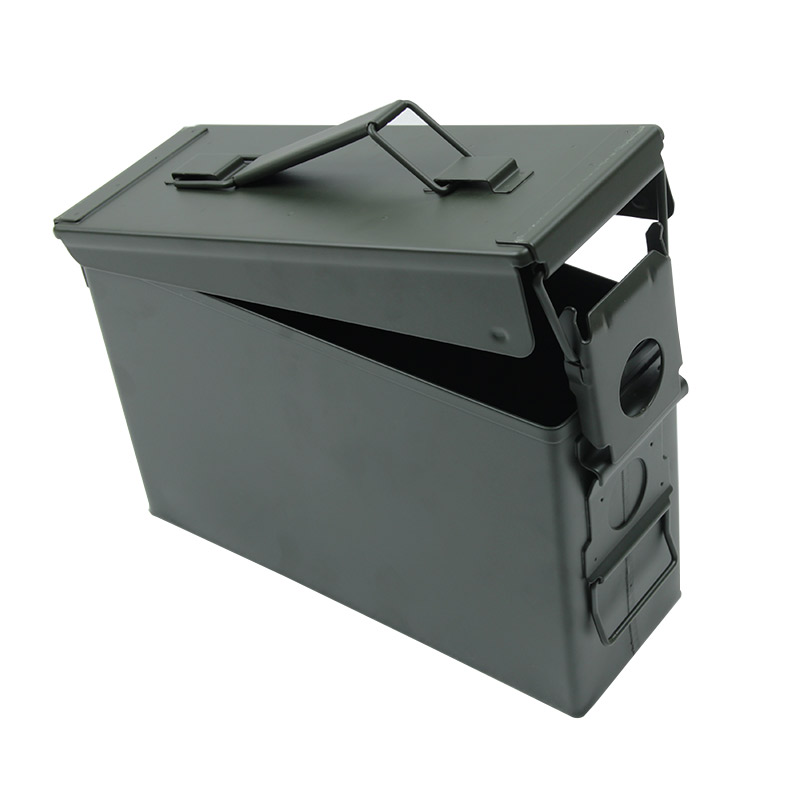 30 Cal Metal Ammo Can Military & Army Style Steel Box Gun Ammo Case Storage Holder Box Heavy duty Tactical Bullet box (5)