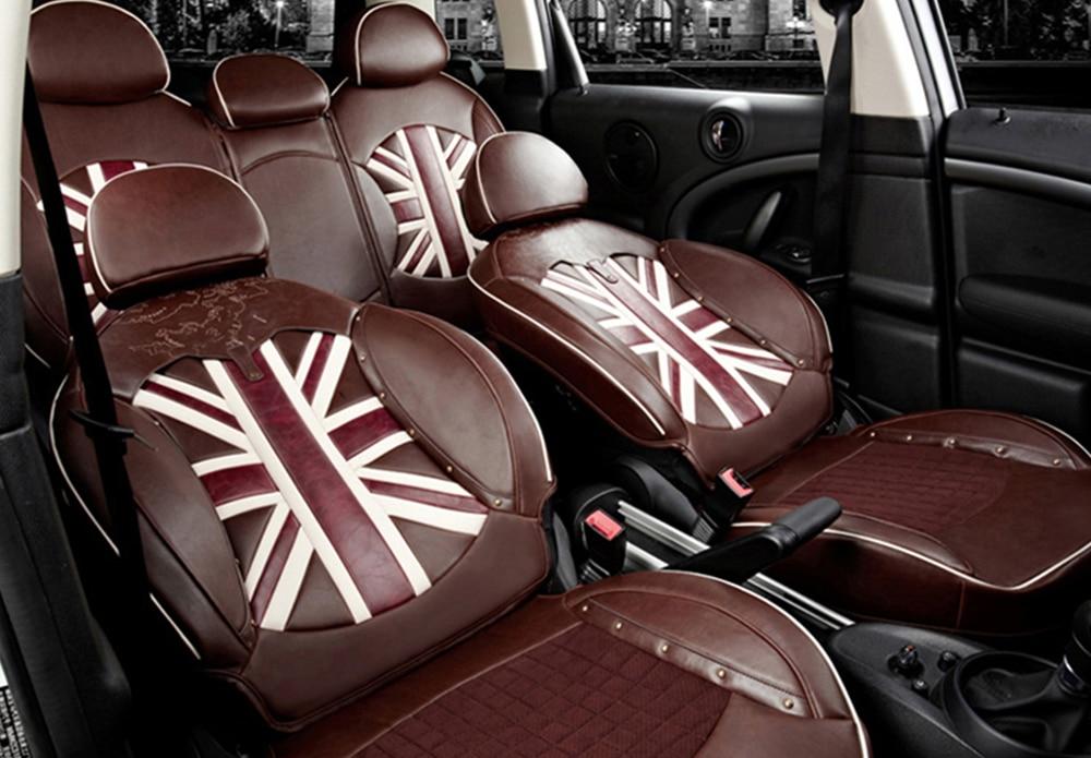 2010 - de lujo negra imitación piel cubiertas de asiento de coche-Conjunto Completo Mini Countryman