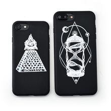 BROTOLA Brand Comics Hourglass Pyramid Case For iphone 6 cases silicone Soft Back Cover For iphone 6 6s 7 Plus Coque Capa(China)