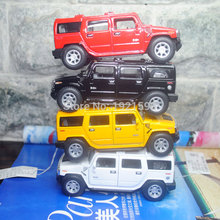 10pcs/pack Wholesale Brand New 1/40 Scale USA 2008 Hummer H2 SUV Diecast Metal Pull Back Car Model Toy