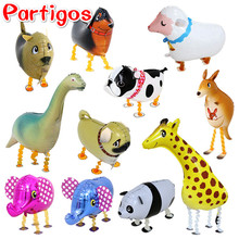 50pcs/lot animals walking pet balloons children's classic toys Hybrid models of animal balloons foil balloon