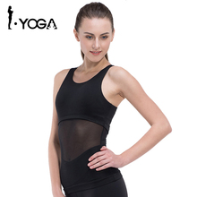 Women Yoga T-Shirt Yoga Woman Sleeveless Yoga Tank Top Tights Sports Tops Fitness Shirt Women Quick Dry Running Shirts 15017(China)