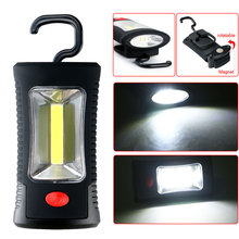 NEW Sale COB 3W LED + 3 LEDs Working Flashlight Lamp Magnetic Hanging Camping Light With Magnet For Home Camping Traveling