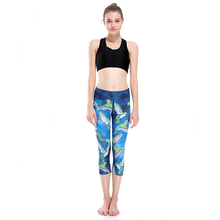 Hot Love Spark Hummingbird Women Stretchy Blue Running Tight Slimming Control Weight Loss Shaping Trousers Capris
