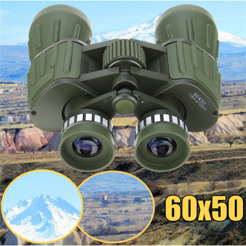 New Day/Night 60x50 Military Zoom Powerful HD Binoculars Hunting Optics Astronomical Telescope Objective + Eyepiece Adjustment<br>
