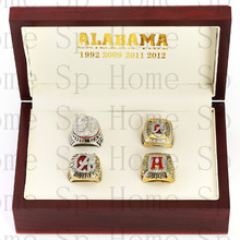 US size 10 to 13! 1992 2009 2011 2012(4pcs) Alabama Crimson Tide Championship Rings Replica Drop Shipping