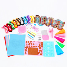 Free Shipping Most Complete Quilling Paper Tools drawing material package Home DIY Decoration Pressure Relief Gift(China)