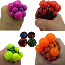 1PC 2016 Anti Stress Face Reliever Grape Ball Autism Mood Squeeze Relief Healthy Toy Funny Geek Gadget  for Men  Halloween Jokes