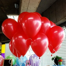10pcs/lot Cheap 10inch Red Latex Balloons Air Balls Inflatable Wedding Party Decoration Birthday Kid Party Float Balloons Toys(China)