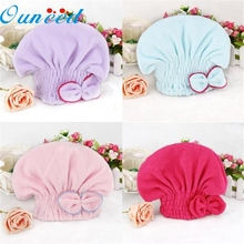 Home Supplies Hot Selling Newly Textile Useful Dry Microfiber Turban Quick Hair Hats Towels Bathing Hot drop shipping 0526