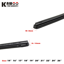 "KAWOO Car Vehicle Insert Rubber strip Wiper Blade (Refill) 8mm Soft 14"" 16"" 17"" 18"" 19"" 20"" 21"" 22"" 24"" 26"" 10pcs/lot styling"