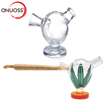 ONUOSS Mini Smoking Glass Water Pipe Small Weed Tobacco Pipes Shisha Hookah Pipes For Smoking Accessories Weed For Rolling Paper