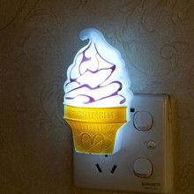 Novelty LED Ice Cream Night Light Home Decoration Bedroom Lamp led Nightlight for Baby Kids Birthday Christmas veilleuse enfant