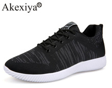 Akexiya New Brand Running Shoes Mens Sport Sneakers Male Jogging Shoes Laces Athletic Sneakers Black Gray(China)