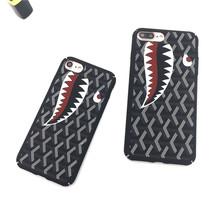 For Apple iphone 5 5s se case luxury Classic shark Hard Plastic Phone Case iPhone 7 6 6s plus case for iPhone 6  phone shell  G6