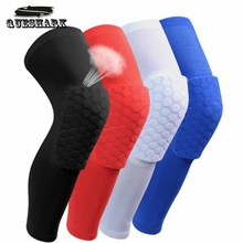 1PCS Breathable Sports Football Basketball Knee Pads Honeycomb Knee Brace Leg Sleeve Calf Compression Knee Support Protection(China)