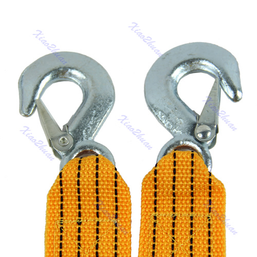 2017 Winch 4M 5 Ton Car Tow Cable Heavy Duty Towing Pull Rope Strap Hooks Van Road RecoveryJUN13
