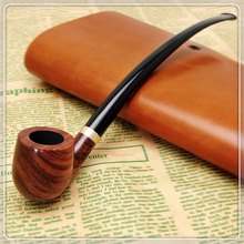Smoker 9'' Long Classic Tobacco Pipe Rosewood Smoking Pipe For Weed Wooden Weed pipe Gift Set  302BH