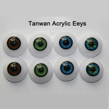 6Pairs/LOT Wholesale Dolls Accessories High Quality 22MM Acrylic Doll Eyes Reborn Eyes For Toys(China)