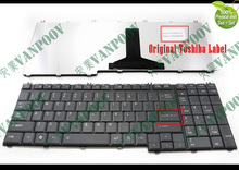 New US Notebook Laptop keyboard for Toshiba Satellite A500 P205 P300 L350 L550 L582 X300 X500 A505 A505D F501 Black V109252AS1(China)