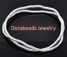 DoreenBeads 2 silver color Flexible Snake Chain Necklaces 90cm (B11323)