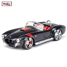 Maisto 1:24 1965 Ford Shelby Cobra 427 Alloy Car Model Metal Diecast Classic Roadster Car For Kids Birthday Gift Toys Collection