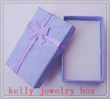 Wholesale 24pcs/Lot Blue Colors 5x8x2.5cm Jewelry Set Box Necklace/Earrings/Ring Boxes Jewelry Display Packaging Gift Box