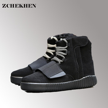ZCHEKHEN High top male Tactical Military Desert Boot casual kanye hip-hop danceing shoes lace up Breathable white black #15(China)