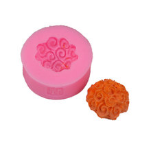New 3D Rose Ball Flower Mould for Fondant Soap Chocolate Candle Wedding Party Cake Decorating Moulds Pudding Molds
