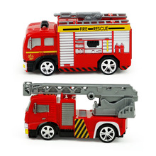 1:58 Mini Model Truck Diecast Fire Trucks Toy Children RC Toy Cars With Remote Control Water-Tank Lorry Fire Trucks for Kids(China)