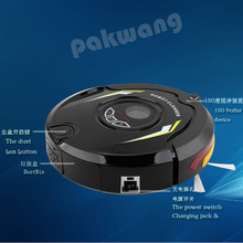 robot 310C, clever vacuum cleaner,UV lamp,Speed adjustment,Remote Controller,Anti-falling, black, Mother's Day Gift