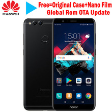 "Global Rom Huawei Honor 7X 4GB 32GB 5.93"" Full Screen OTA Update Mobile Phone Octa Core Dual Rear Cameras 3340mAh 2160*1080P(China)"