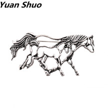 Europe and the United fashion States the new hollow out white color horse female brooch package clothes decorations(China)