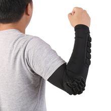 Honeycomb Crashproof Football Basketball Shooting Arm Sleeve Elbow Support Protection 7214
