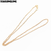 XIAOJINGLING Wholesale Gold/Silver Color Necklace Chains For DIY Jewelry Making Materials Accessories Long Link Chain Necklace