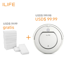 ILIFE V1 robot vacuum cleaner,500Pa power suction,automatic Intelligence sweeper, cliff sensor, efficient hepa cleaning