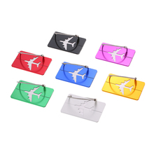7pcs Travel Airlines Luggage Tags Suitcase Bag Tag Address Name Identity ID Label Identifier Metal Aluminum Alloy