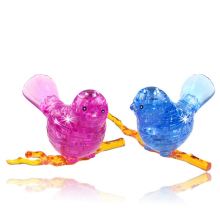 DIY Funny Pisces Bird 3D Crystal Puzzles with color lights 50pcs best toys for children MAY16_35