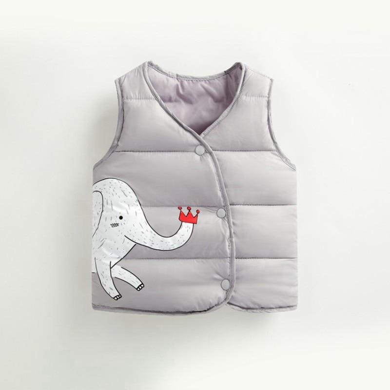 CROAL CHERIE Cotton Baby Girls Boys Winter Vest For Kids 2018 Kawaii Elephant Printing Waistcoat Children Boys Clothes 80-130cm (9)
